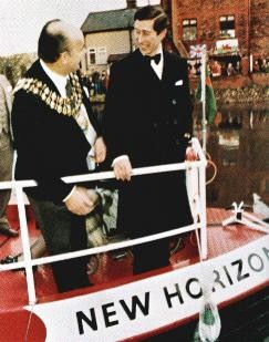 HRH the Prince of Wales at the launch of New Horizons